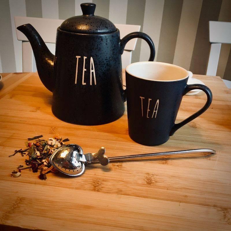 Tea tong heart-shaped - Tea Preparation