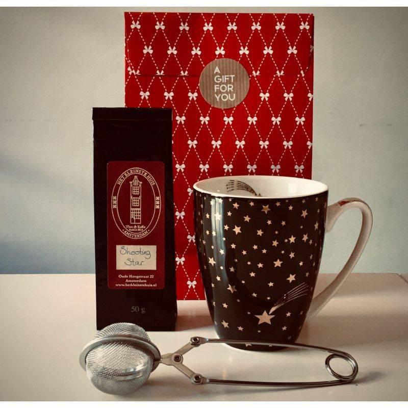 Shooting Star Tea Package (black mug) - Gift Packages