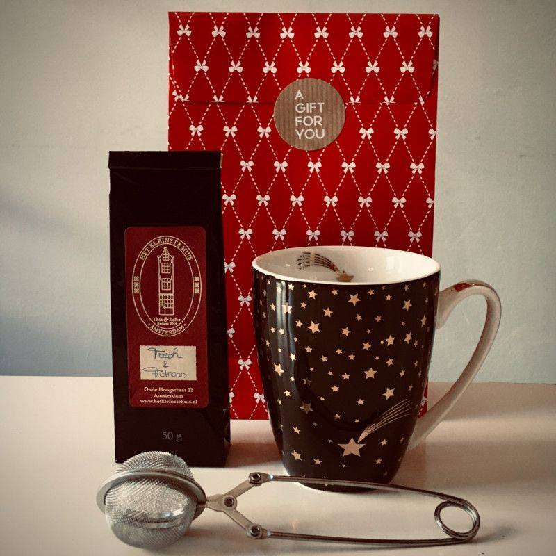 Fresh & Fitness Tea Package (black mug) - Gift Packages
