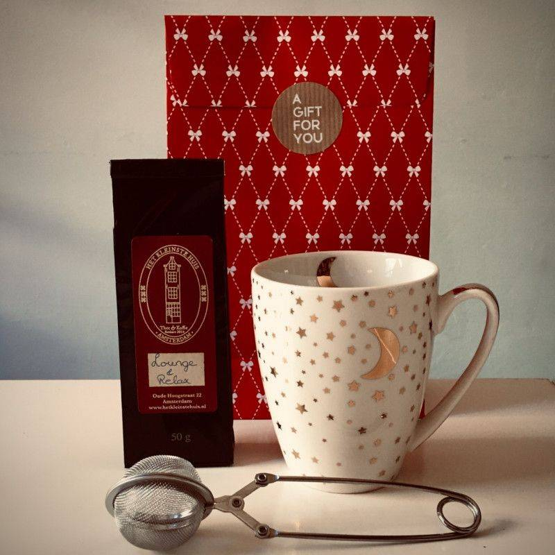 Lounge & Relax Tea Package (white mug) - Gift Packages