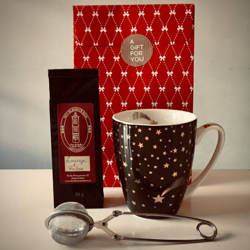 Lounge & Relax Tea Package (black mug) - Gift Packages