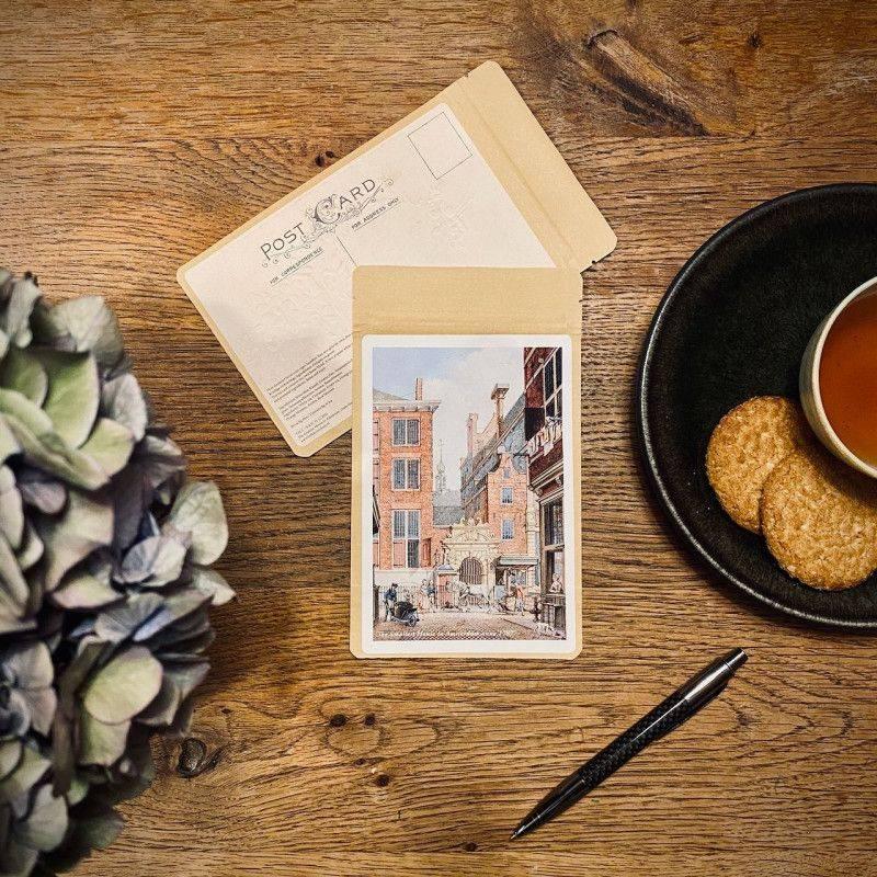 Tea postcard The Smallest House 1787 - Tea Postcards