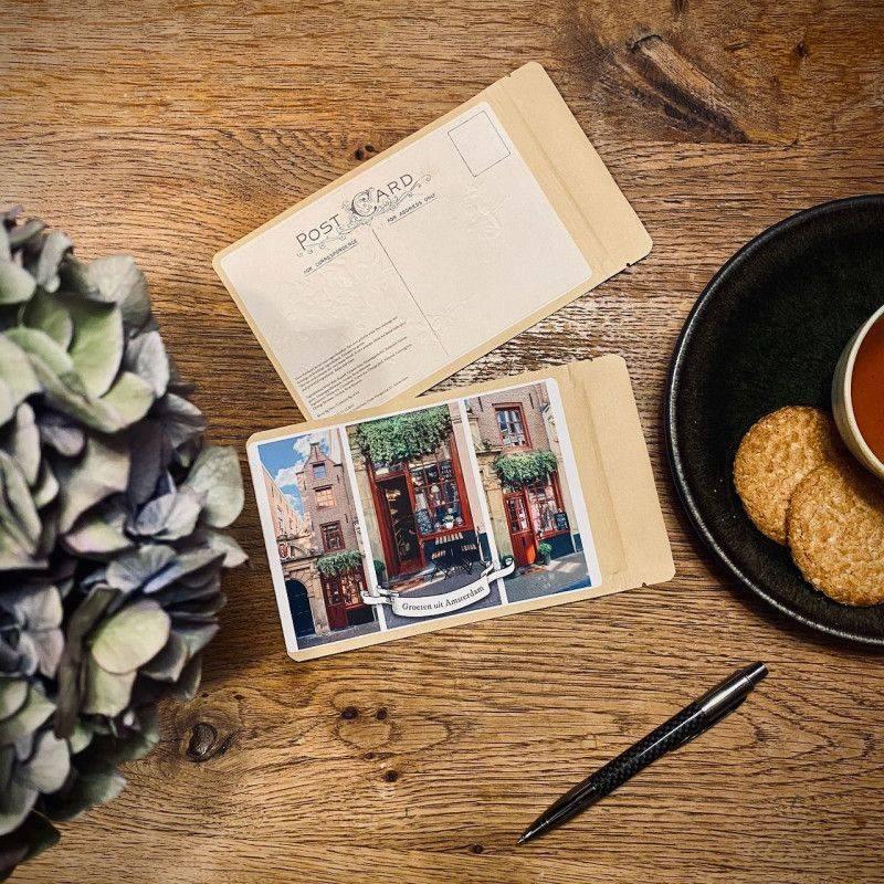 Theekaart Het Kleinste Huis - Groetjes uit Amsterdam - T-mail
