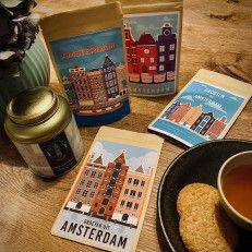 Set of 4 Tea Postcards - Greetings from Amsterdam - T-mail