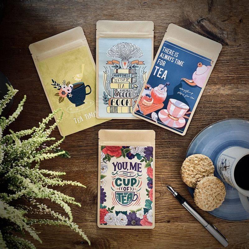 Set van 4 Theekaarten - Tea Moments - T-mail