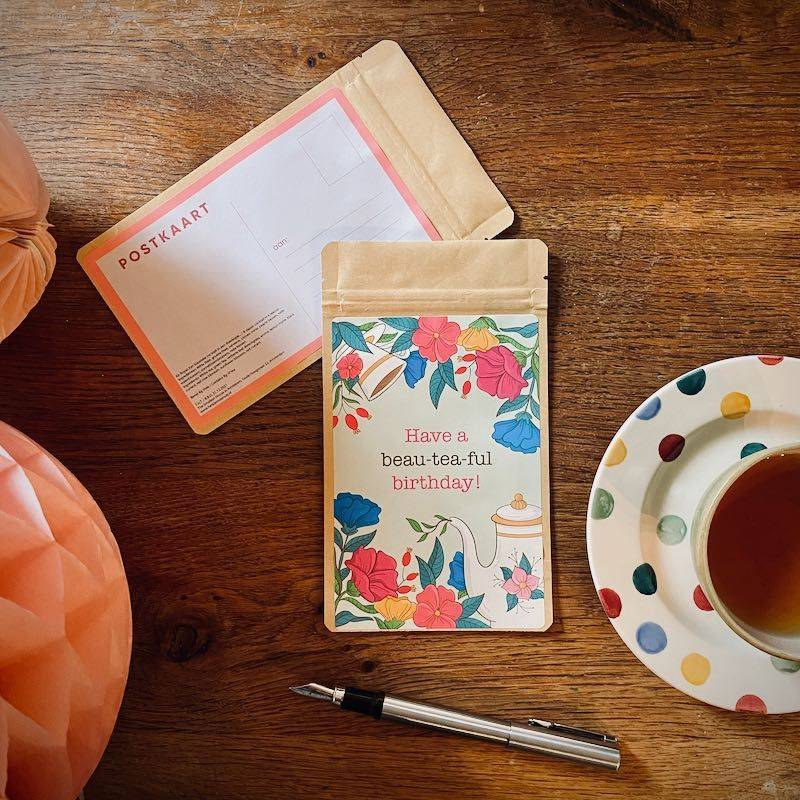 Theekaart - Have a Beau-tea-ful Birthday! - T-mail