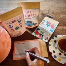 Theekaart - Happy Birthday - T-mail