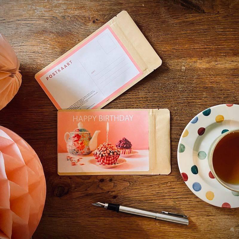 Tea Postcard - Happy Birthday - T-mail