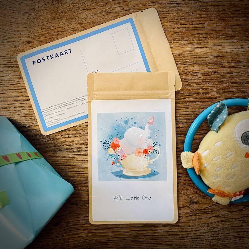 Tea Postcard - Hello little one (elephant) - T-mail