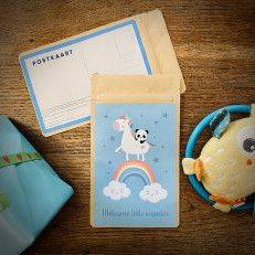 Theekaart - Welcome little wonder (blauw) - T-mail