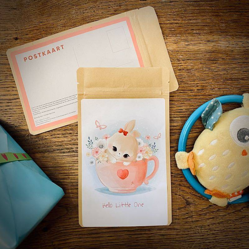 Theekaart - Hello little one (konijntje) - T-mail