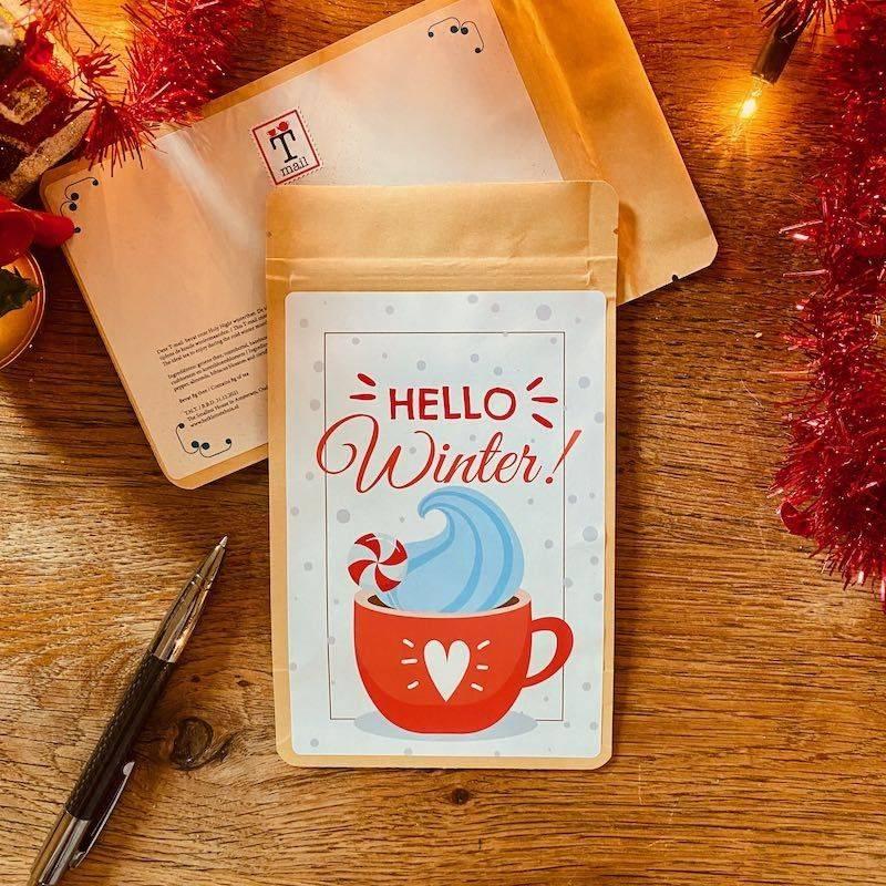 Theekaart - Hello Winter - T-mail