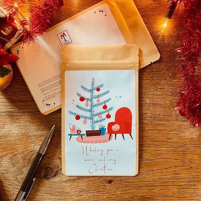 Tea Postcard - Cozy Christmas - T-mail