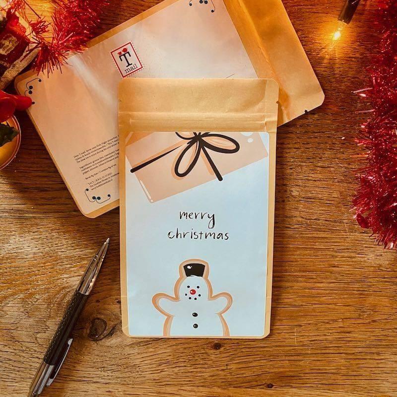Tea Postcard - Merry Christmas - T-mail
