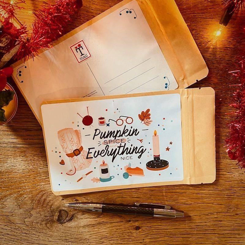 Tea Postcard - Pumpkin & Spice - T-mail