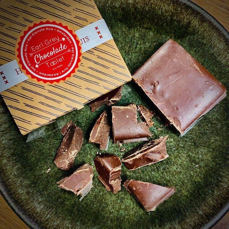 Earl Grey Chocolade Tablet, puur 54,5% - Het Kleinste Huis - Chocolade