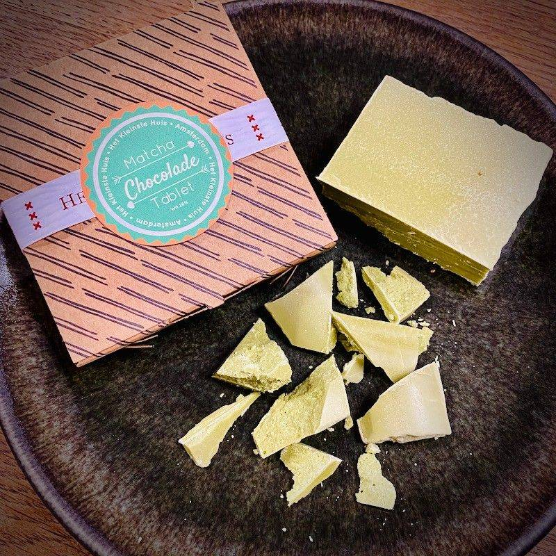 Matcha Flavoured White Chocolate - The Smallest House - Chocolate