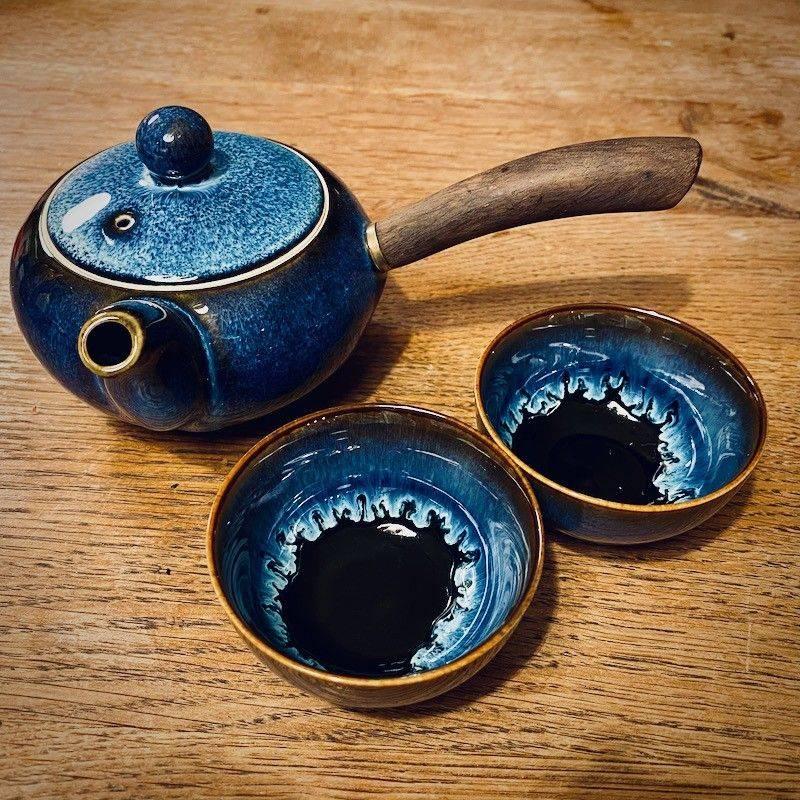 Kyusu Tea Set Blue - Teaware