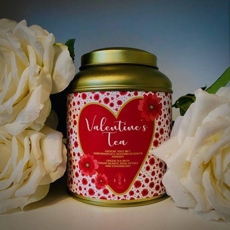 Blikje Valentijnsthee Goud - Valentijn