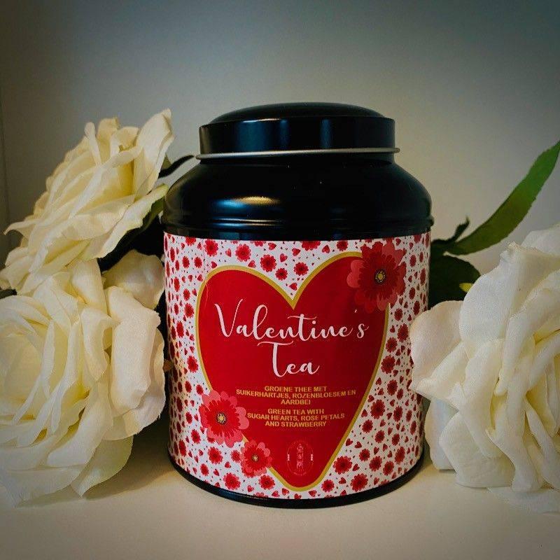 Blikje Valentijnsthee Zwart - Valentijn