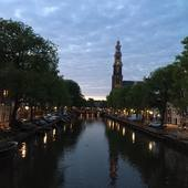 On our way back home we just had to stop to take in this view. In awe of this beautiful city. Stay safe and well everyone! Good night from Amsterdam! ❤️❤️❤️. #amsterdam #iloveamsterdam #amsterdamcanals #westerkerk #reflection #sunset #cloudysky #homewardbound #goinghome #staysafe #goodnight #thesmallesthouseinamsterdam